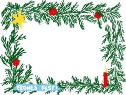 Colorful Christmas frame clipart
