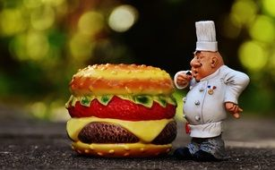 Chefs Cheeseburger Figures