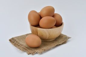 the eggs in a bowl