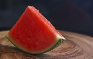 a slice of watermelon without seeds