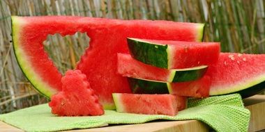 tasty and fresh red Watermelon