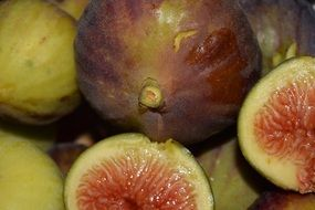 ripe figs close up