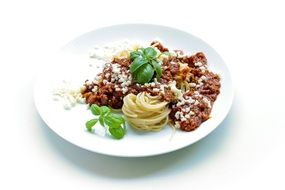 Beautiful Pasta Bolognese on the plate
