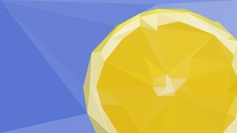 painted abstract lemon