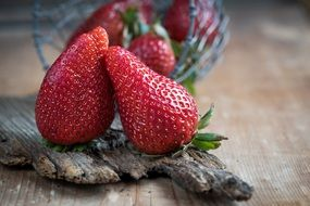 organic ripe strawberries