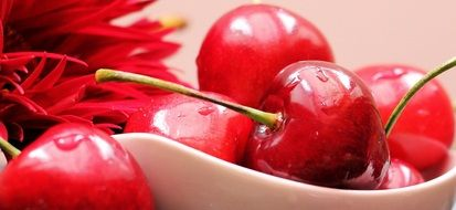wallpaper with sweet cherries