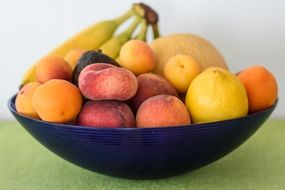 Bowl is full of fruits