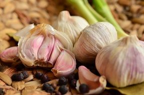 flavored garlic in the kitchen