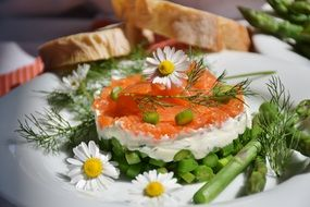 appetizer with salmon and cream cheese