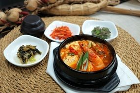 dishes with seafood for gourmets