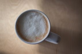 tasty Cappuccino Cup Macro