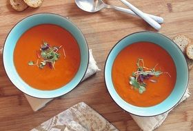 homemade delicious tomato soup