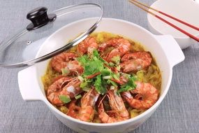 Shrimp delicious Seafood Cuisine