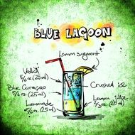 recipe of blue lagoon cocktail