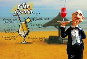 recipe of pina colada cocktail drink