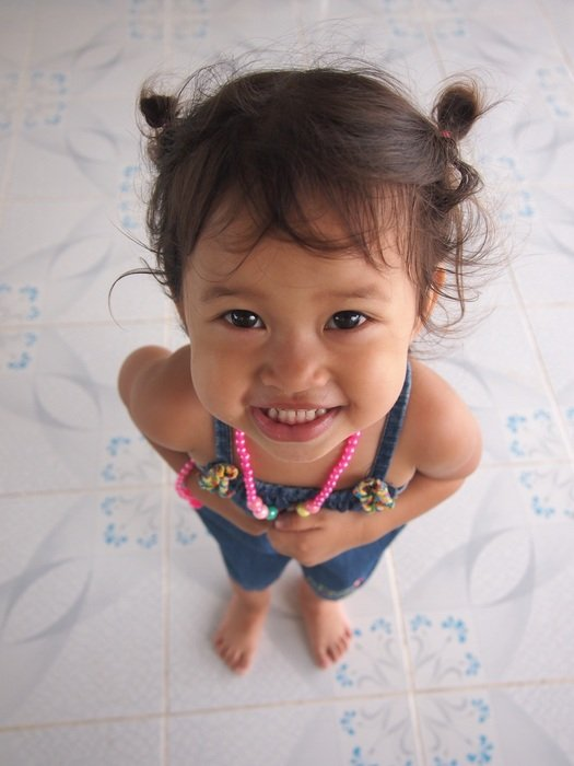 Young girl smiling youthfulness