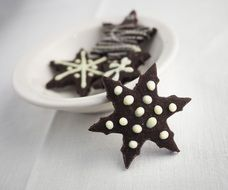 star form Chocolate Biscuits