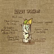 Clipart of Tahoe Blue Cocktail's recipe