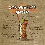 graphic image of strawberry mojito for a party