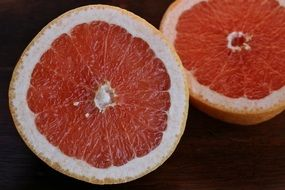 Half tasty Grapefruit Fruit Sweet Food