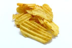 curly potato chips as a snack