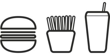Burger Restaurant icon drawing