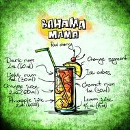 recipe of bahama mama cocktail