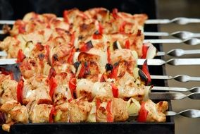 kebab with vegetables in Turkey
