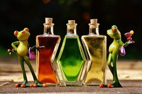 Frogs Beverages Bottles different forms