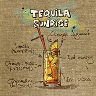 recipe of tequila sunrise drink
