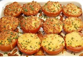 Tomatoes with Gratin Cheese
