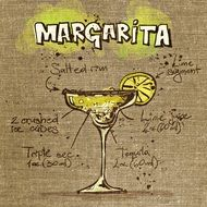 margarita cocktail in detail on the picture