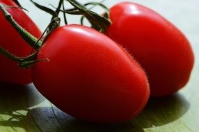 Tomatoes Vegetables Macro Red close