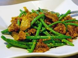 stewed eggplant with green beans