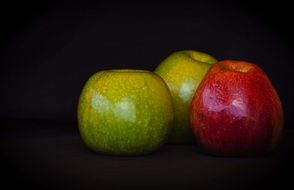 Apples Fruit Red Green