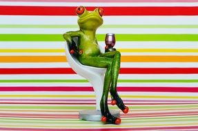 Frog Chair Cozy Drink Wine furniture