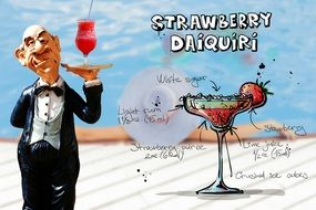 wallpaper with strawberry daiquiri recipe