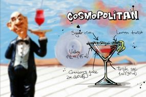 recipe of cosmopolitan alcoholic drink