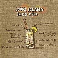 wallpaper with recipe of long island iced tea