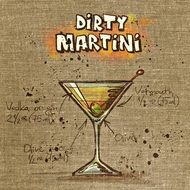 recipe of dirty martini drink