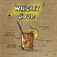 wallpaper with recipe of sour whiskey