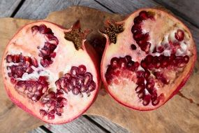 vitamins sliced pomegranate red fruit