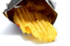 wavy chips in a bag