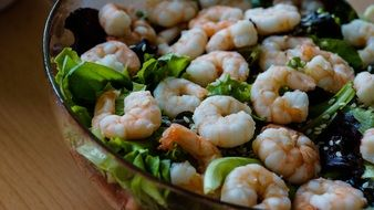 Salad Shrimp and Lettuce
