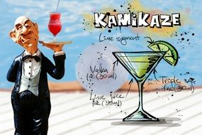 recipe of fresh kamikaze drink