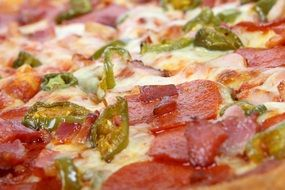 American Bacon Bread Cheese pizza