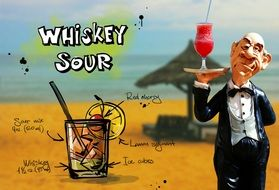 recipe of refreshing sour whiskey