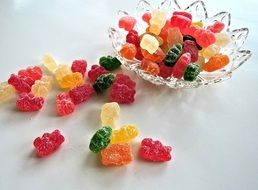 multi-colored soft sweets