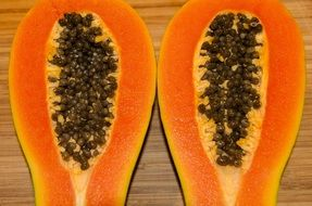 papaya in a cut