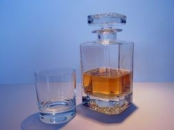 Alcohol Whisky in Carafe